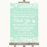Green Burlap & Lace Photo Guestbook Friends & Family Customised Wedding Sign