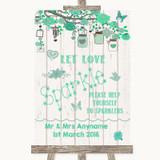 Green Rustic Wood Let Love Sparkle Sparkler Send Off Customised Wedding Sign
