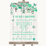Green Rustic Wood Wedpics App Photos Customised Wedding Sign