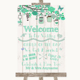 Green Rustic Wood Welcome Order Of The Day Customised Wedding Sign