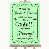 Green Confetti Customised Wedding Sign