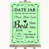 Green Date Jar Guestbook Customised Wedding Sign