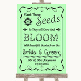 Green Plant Seeds Favours Customised Wedding Sign