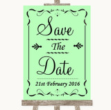 Green Save The Date Customised Wedding Sign