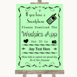 Green Wedpics App Photos Customised Wedding Sign