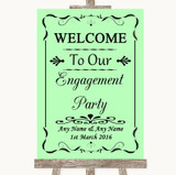 Green Welcome To Our Engagement Party Customised Wedding Sign