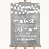 Grey Watercolour Lights Photo Prop Guestbook Customised Wedding Sign