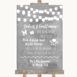 Grey Watercolour Lights Pick A Prop Photobooth Customised Wedding Sign