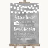 Grey Watercolour Lights Selfie Photo Prop Customised Wedding Sign