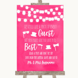 Hot Fuchsia Pink Watercolour Lights Photo Prop Guestbook Wedding Sign