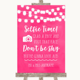 Hot Fuchsia Pink Watercolour Lights Selfie Photo Prop Customised Wedding Sign