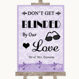 Lilac Shabby Chic Don't Be Blinded Sunglasses Customised Wedding Sign