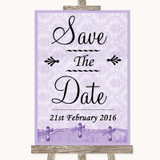 Lilac Shabby Chic Save The Date Customised Wedding Sign