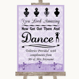 Lilac Shabby Chic Toiletries Comfort Basket Customised Wedding Sign
