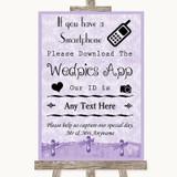 Lilac Shabby Chic Wedpics App Photos Customised Wedding Sign