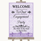 Lilac Shabby Chic Welcome To Our Engagement Party Customised Wedding Sign