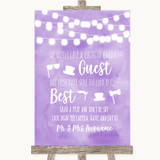 Lilac Watercolour Lights Photo Prop Guestbook Customised Wedding Sign