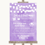 Lilac Watercolour Lights Pick A Prop Photobooth Customised Wedding Sign