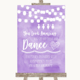 Lilac Watercolour Lights Toiletries Comfort Basket Customised Wedding Sign