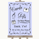 Lilac Cards & Gifts Table Customised Wedding Sign