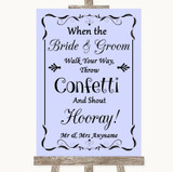 Lilac Confetti Customised Wedding Sign
