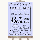 Lilac Date Jar Guestbook Customised Wedding Sign