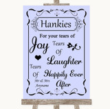 Lilac Hankies And Tissues Customised Wedding Sign