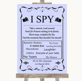 Lilac I Spy Disposable Camera Customised Wedding Sign