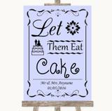 Lilac Let Them Eat Cake Customised Wedding Sign
