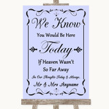 Lilac Loved Ones In Heaven Customised Wedding Sign