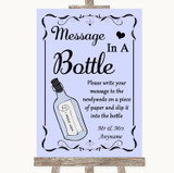Lilac Message In A Bottle Customised Wedding Sign