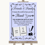 Lilac Photo Guestbook Friends & Family Customised Wedding Sign