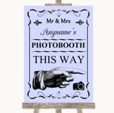 Lilac Photobooth This Way Right Customised Wedding Sign