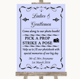Lilac Pick A Prop Photobooth Customised Wedding Sign