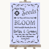 Lilac Plant Seeds Favours Customised Wedding Sign