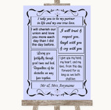 Lilac Romantic Vows Customised Wedding Sign