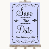 Lilac Save The Date Customised Wedding Sign