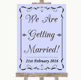 Lilac We Are Getting Married Customised Wedding Sign