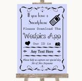 Lilac Wedpics App Photos Customised Wedding Sign