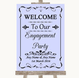 Lilac Welcome To Our Engagement Party Customised Wedding Sign