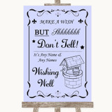 Lilac Wishing Well Message Customised Wedding Sign