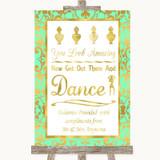 Mint Green & Gold Toiletries Comfort Basket Customised Wedding Sign