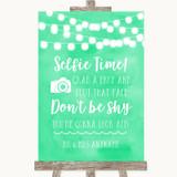 Mint Green Watercolour Lights Selfie Photo Prop Customised Wedding Sign