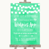 Mint Green Watercolour Lights Wedpics App Photos Customised Wedding Sign