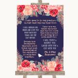 Navy Blue Blush Rose Gold Romantic Vows Customised Wedding Sign