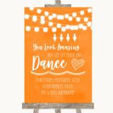 Orange Watercolour Lights Toiletries Comfort Basket Customised Wedding Sign