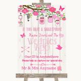 Pink Rustic Wood Wedpics App Photos Customised Wedding Sign
