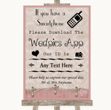 Pink Shabby Chic Wedpics App Photos Customised Wedding Sign