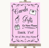 Pink Cards & Gifts Table Customised Wedding Sign