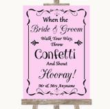 Pink Confetti Customised Wedding Sign